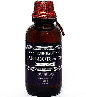 LaFleur & Co. Beard Oil The Bradley (Bourbon Lavender Vanilla) - 2 fl oz subtle memorable scent, Superior beard and skin conditioning Vitamin E Aloe Vera, No Alcohol or Parabens Preservatives