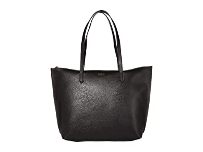 Furla Luce Large Tote (Nero) Handbags