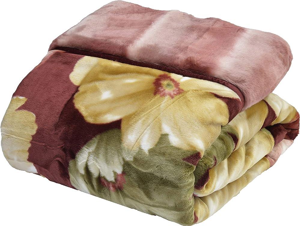ゆるいバンク長老西川(Nishikawa) 毛布 ベージュ シングル 140×200㎝ 日本製 2枚合わせ 洗える アクリル 静電気帯電抑制素材 2K2600