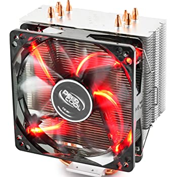 DEEP COOL GAMMAXX 400R CPU Air Cooler with 4 Heatpipes, 120mm PWM Fan and Red LED for Intel/AMD CPUs(AM4 Compatible)