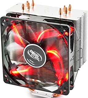 DEEPCOOL GAMMAXX 400R CPU Air Cooler with 4 Heatpipes, 120mm PWM Fan and Red LED for Intel/AMD CPUs(AM4 Compatible)
