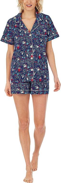 Short Sleeve Classic Shorty Set (Cotton Spandex)