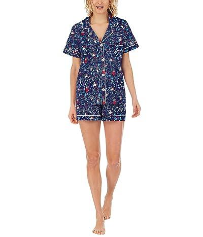 BedHead Pajamas Short Sleeve Classic Shorty Set (Cotton Spandex)