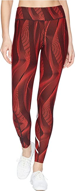 Mid-Rise Print Compression Tights w/ Storage