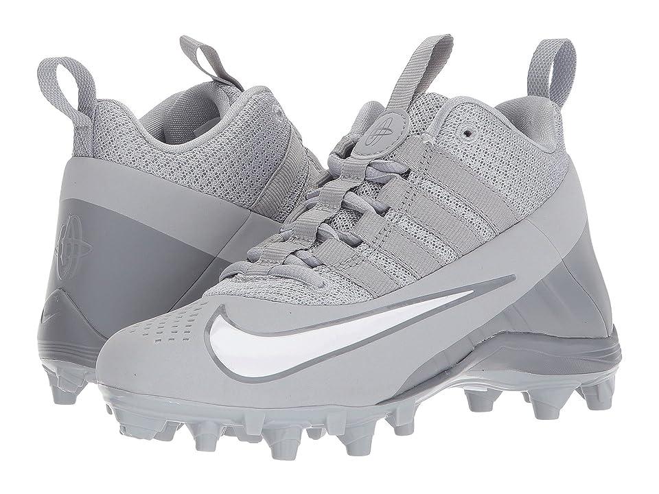 Nike Kids Alpha Huarache 6 Lacrosse (Little Kid/Big Kid) (Wolf Grey/White/Cool Grey) Kids Shoes