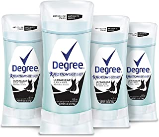 DEGREE UltraClear Antiperspirant Deodorant For Sweat and Odor Protection Black+White Pure Clean Deodorant Stick With 48-Ho...