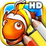 Livros para colorir para crianças HD - Colorir animais do oceano e peixes com lápis coloridos e marcadores mágicos