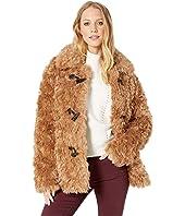 Faux Fur Toggle Teddy Coat