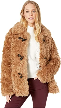 Faux Fur Toggle Teddy Coat