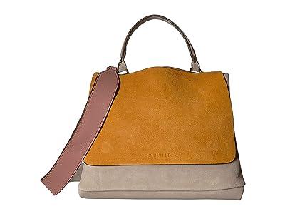 NEUVILLE City Satchel (Yellow Suede) Handbags