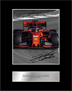Charles Leclerc Signed Mounted Photo Display Formula One F1#5 Autographed Gift Picture Print