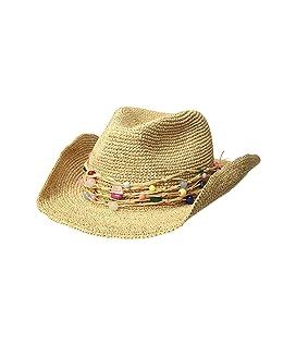 Raffia Crochet Cowgirl w/ Multi Stone Trim