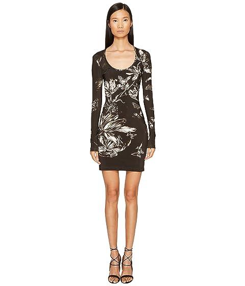 Long Just Cavalli Sleeve Dress Jersey Tulip Heaven Print qgz5wAg
