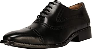 Liberty Men's Cap-Toe Oxford Handmade Leather Lace-up Dress Shoes