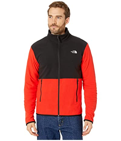 The North Face TKA Glacier Full Zip Jacket (Fiery Red/TNF Black) Men