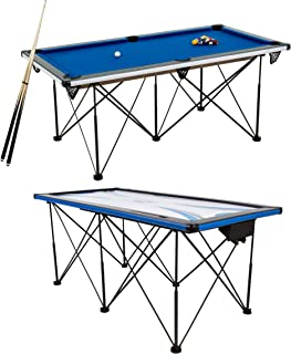 Triumph Sports 6' Portable Pop Up Folding Pool/Billiard Table with Folding Legs, Instant Assembly and Accessories Include...