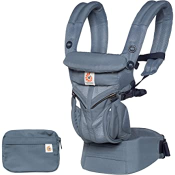 Ergobaby Omni 360 All-Position Baby Carrier for Newborn to Toddler with Lumbar Support and Cool Air Mesh (7-45 Pounds), Oxford Blue
