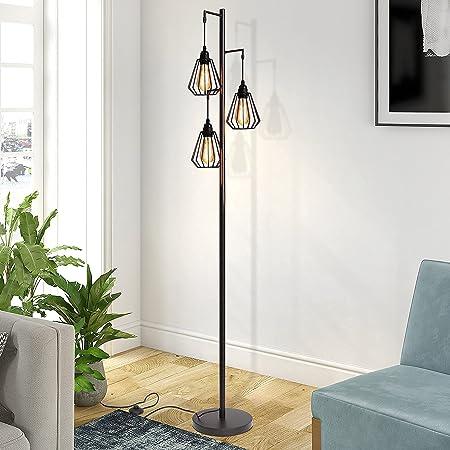 ZMH Lampadaire vintage 3 flammes au design industriel lampadaire rétro en fer lampadaire rétro en métal douille 3*E27 MAX 40W hauteur 163cm couleur antique sans ampoule