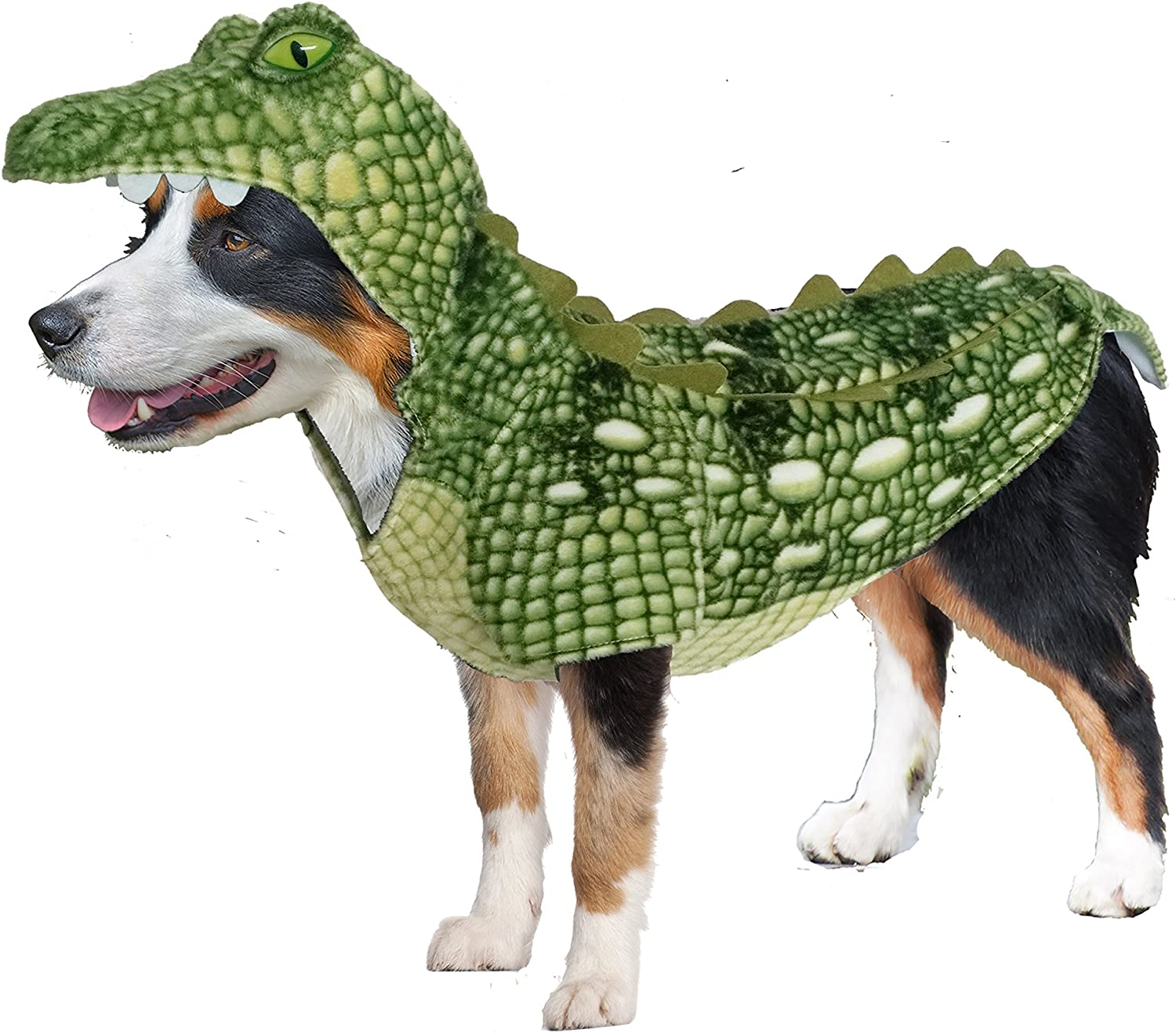 Amazing Pet Products 55536 Green Crocodile Wannabe Dog Coat, Mini