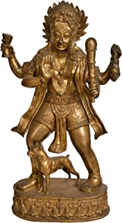 Lord Shiva as Bhairava - Brass Statue