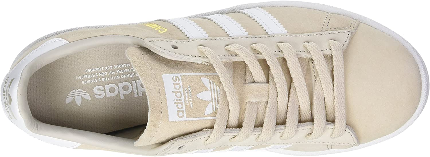 adidas Damen Campus Sneaker Mehrfarbig Clear Brown Ftwr White Crystal White S16