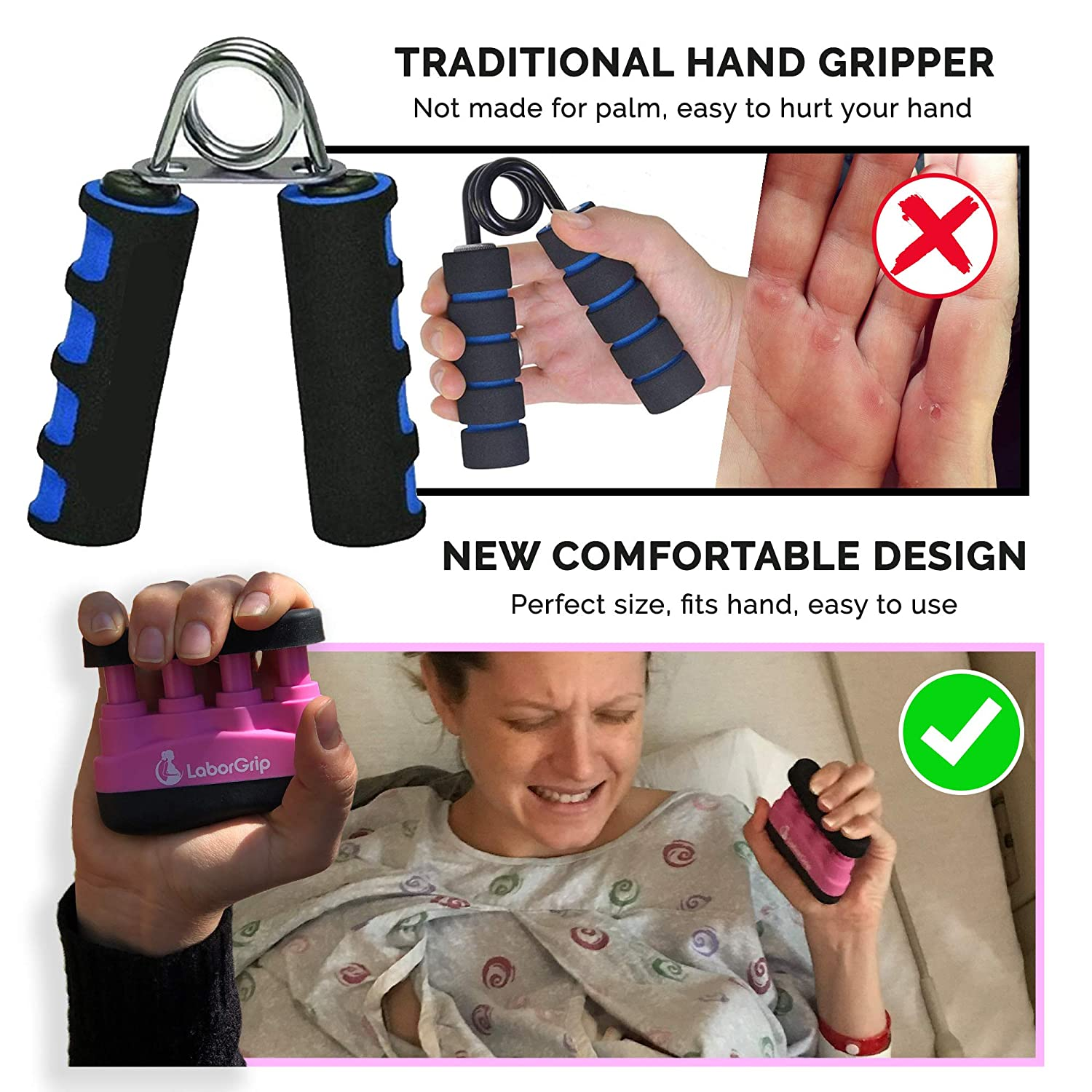 LaborGrip - Labor and Delivery Maternity Device - Pregnancy Gift for First Time Moms - Great Baby Shower Gift