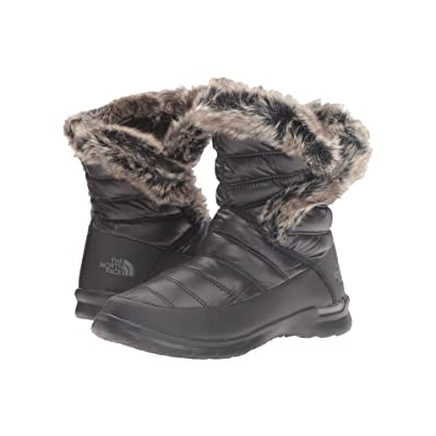 The North Face ThermoBall Microbaffle Bootie II (Shiny TNF Black/Smoked Pearl Grey) Women