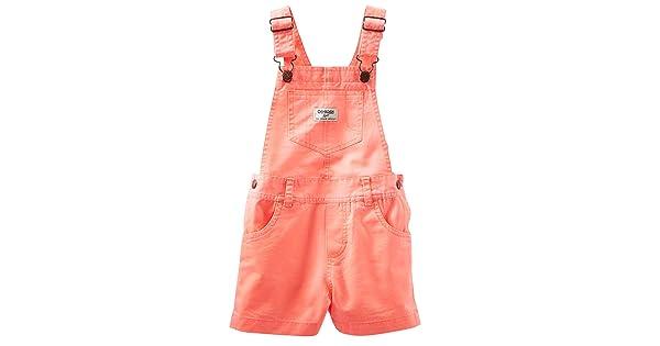Baby Pink OshKosh Bgosh Baby Girls Twill Woven Shortall