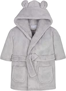 grey and white dressing gown