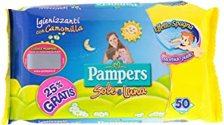 PAMPERS słońce księżyc i chusteczki dla niemowląt 50 jednostek od dziecka i niemowlęcia