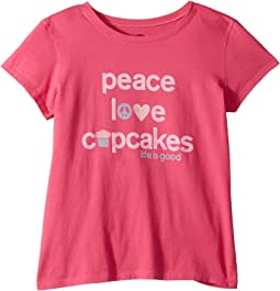 Peace, Love, Cupcakes Crusher T-Shirt (Little Kids/Big Kids)