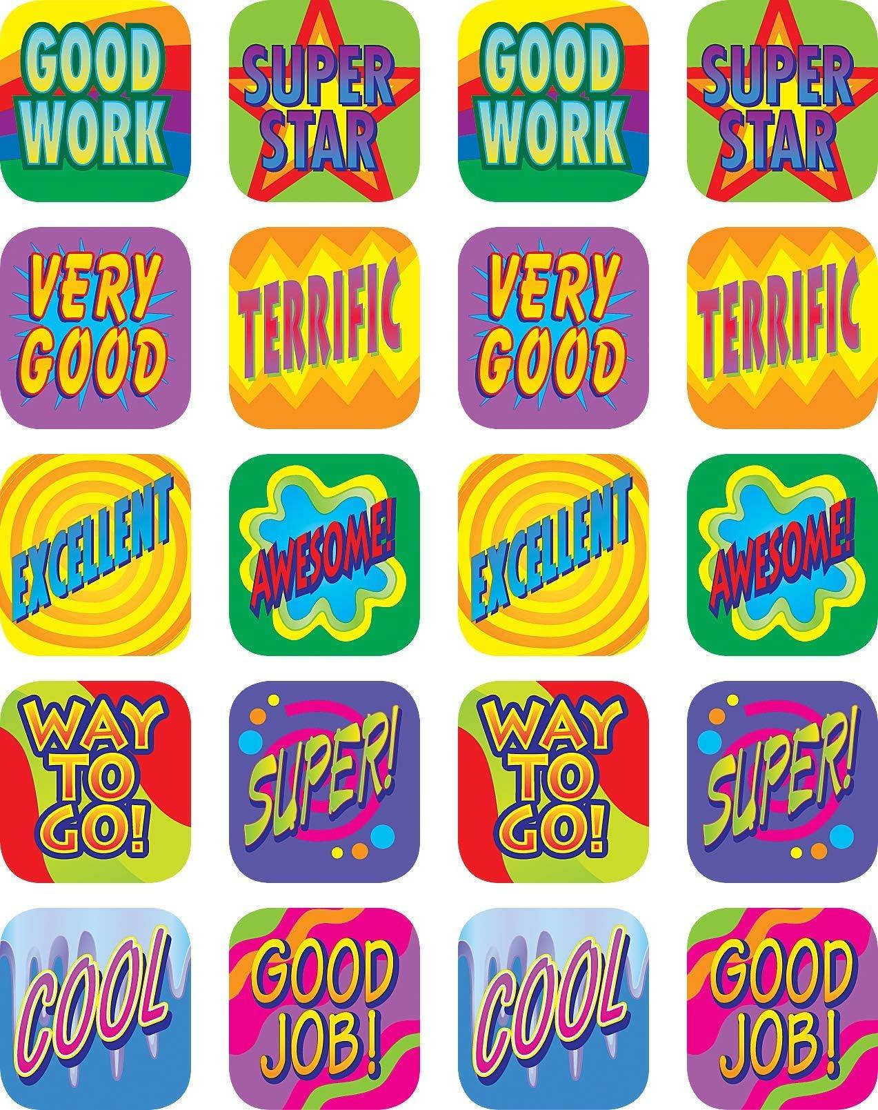 6 x 146215 324 x GREAT GOOD WORKER TRYING HARD TEACHER REWARD SCHOOL STICKERS