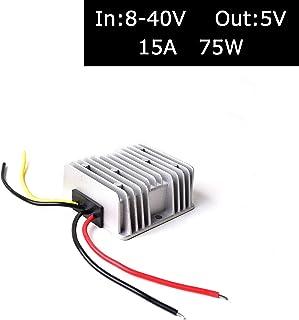 DC 12V/24V/36V to DC 5V (Accept DC 8-40V Inputs) Truck Car Step Down Power Adapter Converter Reducer Regulator for Car Ele...