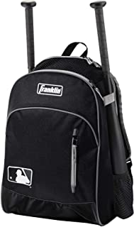 Franklin Sports MLB Batpack Bag - Youth Baseball, Softball and Teeball Bag - Equipment Bag For Sports - Bag Holds Bats (2) and Includes Fence Hook
