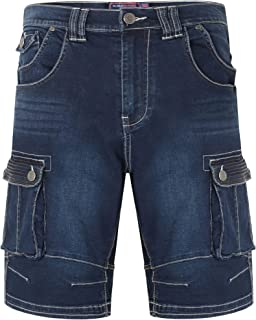 Kam Mens Big Size Stretch Denim Cargo Shorts (Ivan)