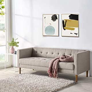 Mid Century Modern Pascal Sofa Sleek Design with Naturally Strong Wood Frame and Supportive Foam Cushioning
