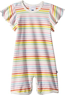 Toobydoo - Rainbow Wing Sleeve Shortie Jumpsuit (Infant)