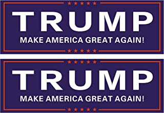 Go Party USA Trump 2020 Stickers 2 Pack   Trump Bumper Stickers 2020   Show Your Support for Donald Trump   Make America Great Again (MAGA)   Trump Decals for Cars & Trucks