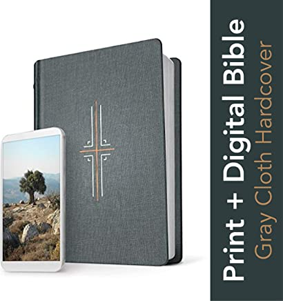 Holy Bible: New Living Translation, Gray, Filament Edition