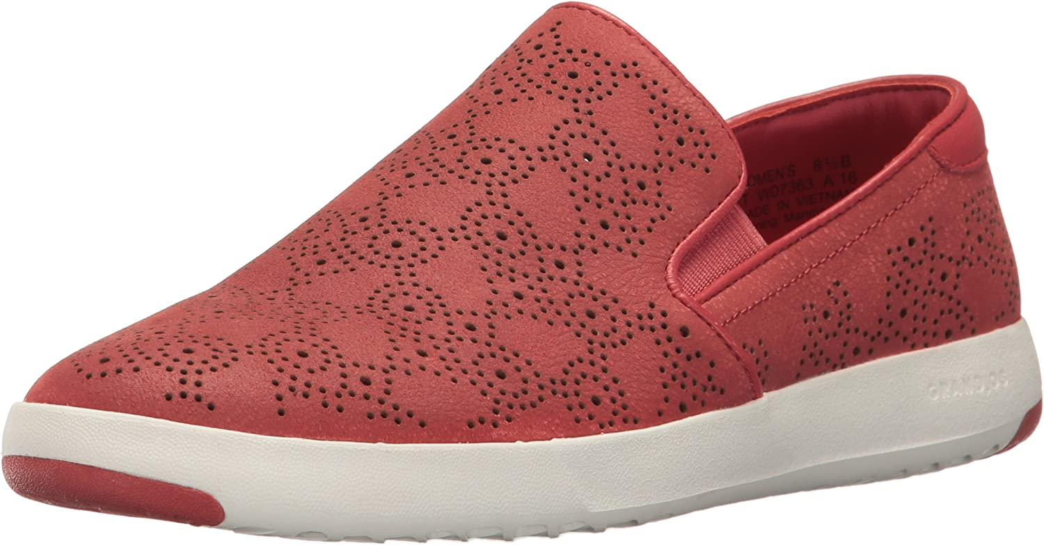 Cole Haan Womens Grandpro Paisley Perforated Slip on Slip-On Loafer