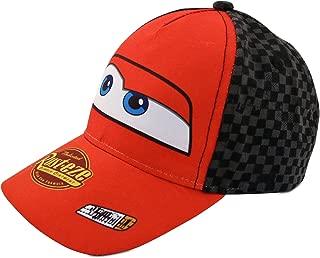 Little Boys Cars Lightning McQueen Character Cotton Baseball Cap, Red/Black, Age 2-7