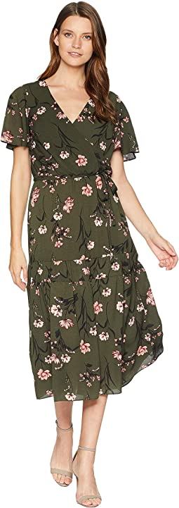 Walina Marcino Floral Short Sleeve Day Dress