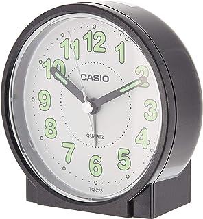 Casio TQ-228-1DF Alarm Clock, White/Black
