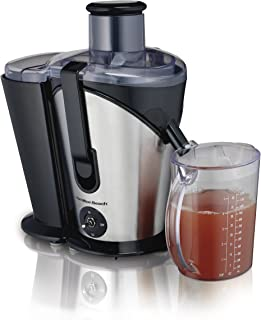 """Hamilton Beach Juicer Machine, Big Mouth 3"""" Feed Chute, Easy to Clean, 2 Speeds, 800 Watts, BPA Free (67750), Black and Silver"""