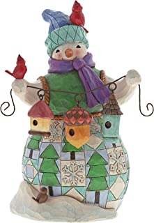 Enesco Jim Shore Heartwood Creek Snowman with Birdhouse, 7.125