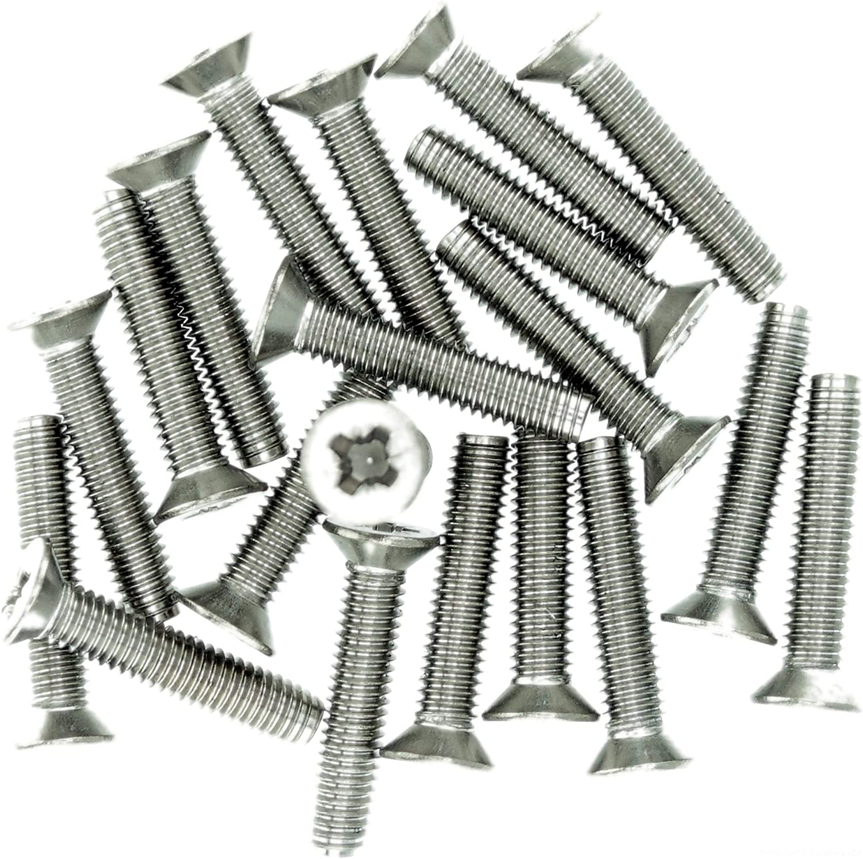 confezione da 20 3 mm x 5 mm A2 Vite di rotolamento Pozi a testa svasata M3 in acciaio inox
