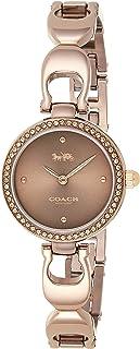 Coach Womens Quartz Wrist Watch, Brown Stainless Steel - 14503563