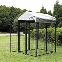 Sandinrayli Medium Outdoor Dog Kennel Cat Pet Shelter Waterproof Cover Shade Enclosure House Cage