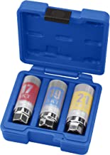 "Kauplus 3PCS 1/2"" Dr. Metric Wheel Protector Impact Socket Set, 1/2-Inch Drive Lug Nut Thin Wall Wheel Protector Socket Set - Metric, Standard 6-Point, 17mm - 19mm-21mm 3-Piece"