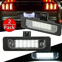 2Pcs LED License Plate Light Lamps for 2009-2018 Ford Flex, 2008-2011 Focus, 2006-2012 Fusion, 6000K White